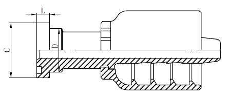स्टेनलेस स्टील हाइड्रोलिक फिटिंग ड्राइंग